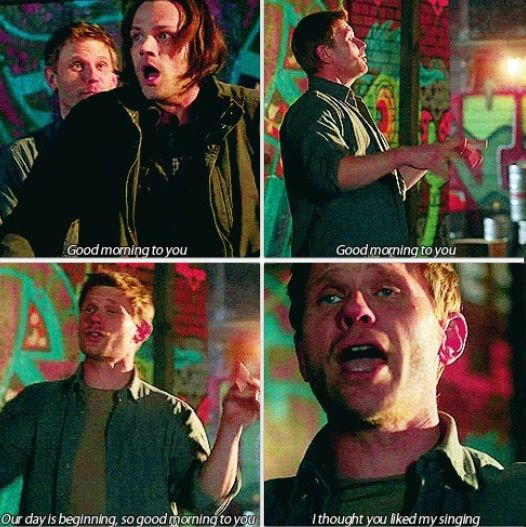 ''I thought you liked my singing.'' Oh, Lucifer :) / 7.17 : The Born-Again Identity