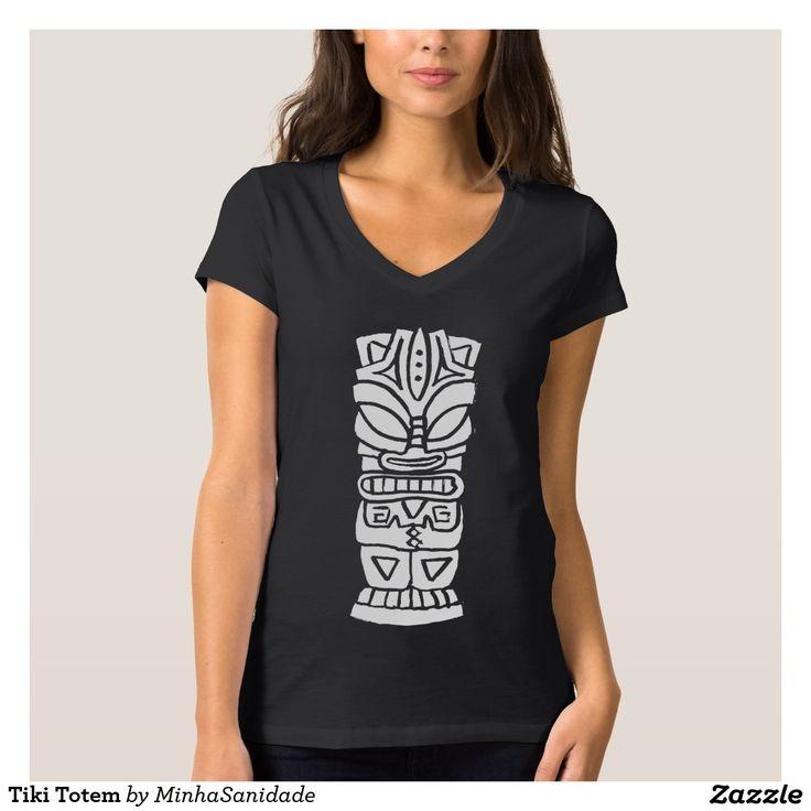 Black and White tribal style tiki totem design.