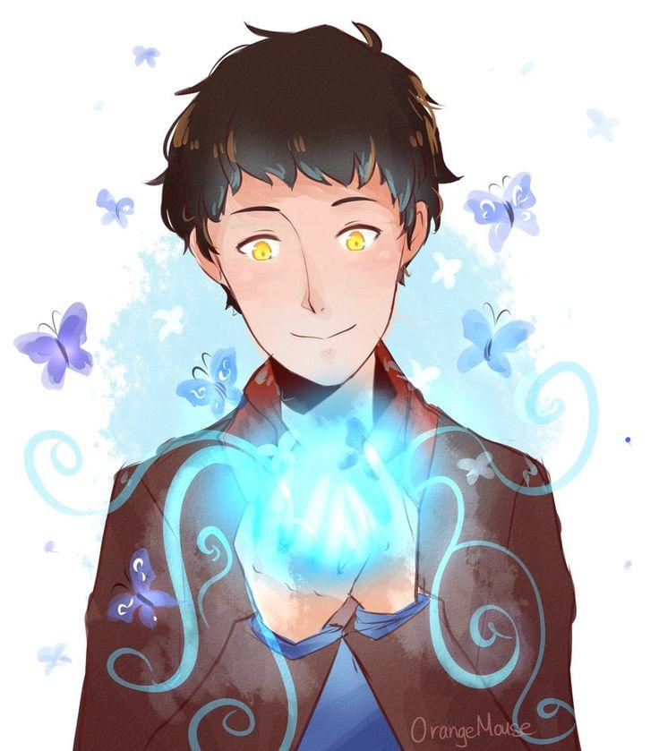 Merlin, butterflies, and light