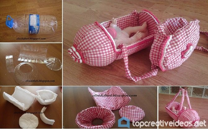 DIY Doll PET Bottle Stroller
