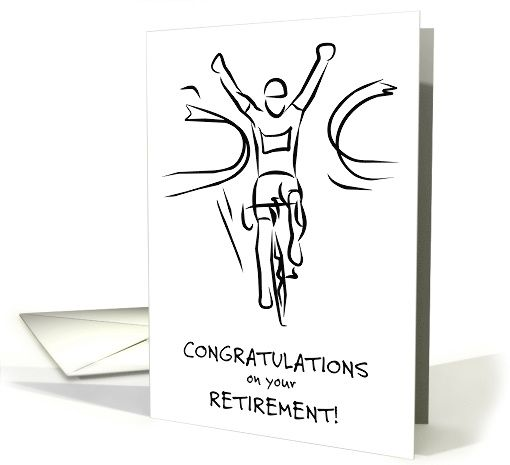 Retirement Congratulations for Cycling Enthusiast, Bicycle Rider card