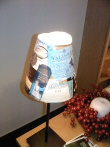 Ikea lamp pimped for Whisky fan