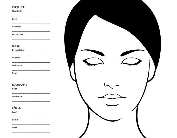 Rostos Desenhos: Faça Seu Próprio Croqui De Maquiagem