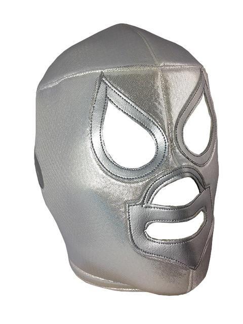 HIJO DEL SANTO Lucha Libre Wrestling Mask (pro-fit) Silver