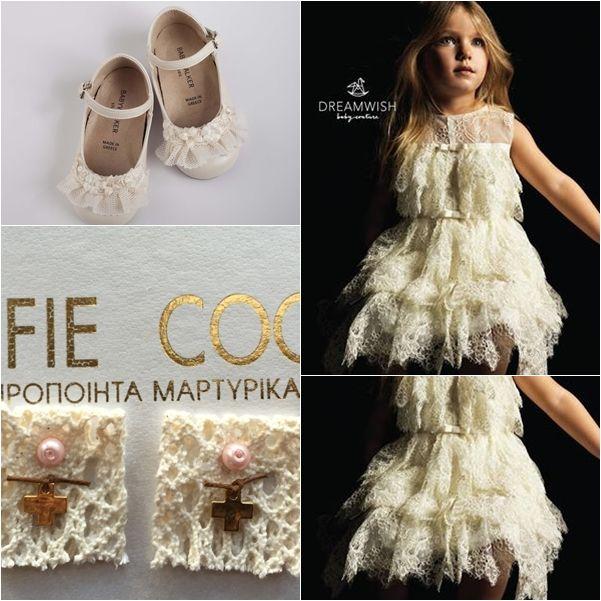 Βαπτιστικά παπούτσια ΒABYWALKER , χειροποίητο φόρεμα Swan της DREAMWISH και μαρτυρικά Celfie Coco! www.angelscouture.gr το πιο μοντερνο ηλεκτρονικό κατάστημα για βαπτιστικά..