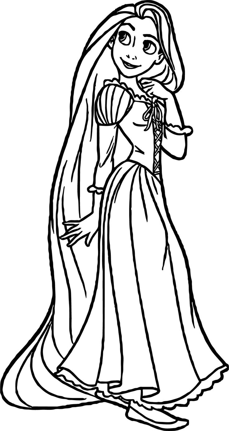 Awesome Rapunzel And Flynn Think Coloring Page Rapunzel Coloring Pages Dog Coloring Page Coloring Pages