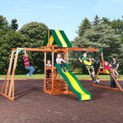 Backyard Discovery Colorado Cedar Swing Set on sale