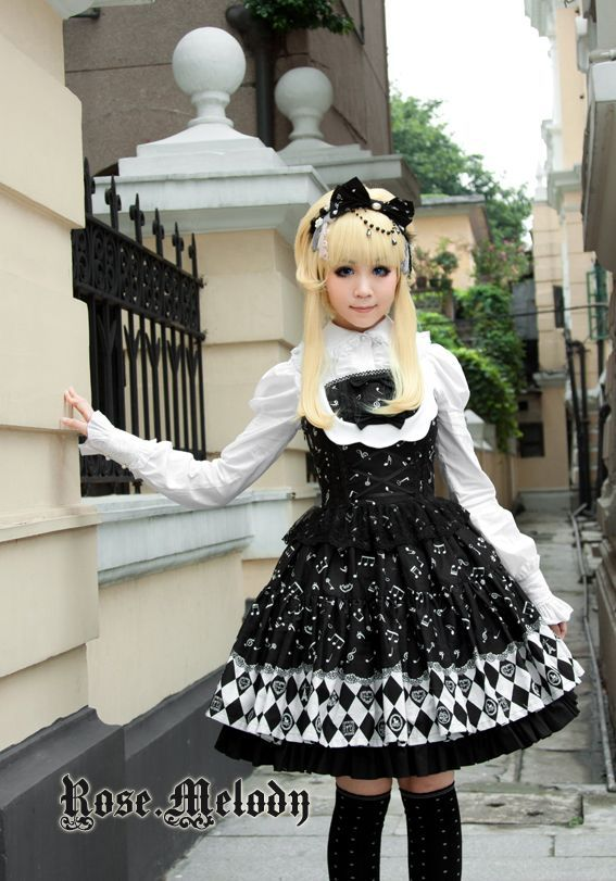 Rose Melody- Twilight Music jumperskirt and blouse.