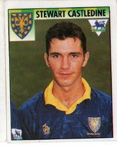 WIMBLEDON - Stewart Castledine #518 MERLIN'S English Premier League 1995 Football Sticker