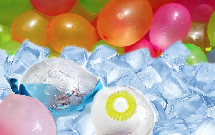 Globos de agua congelados con sorpresa
