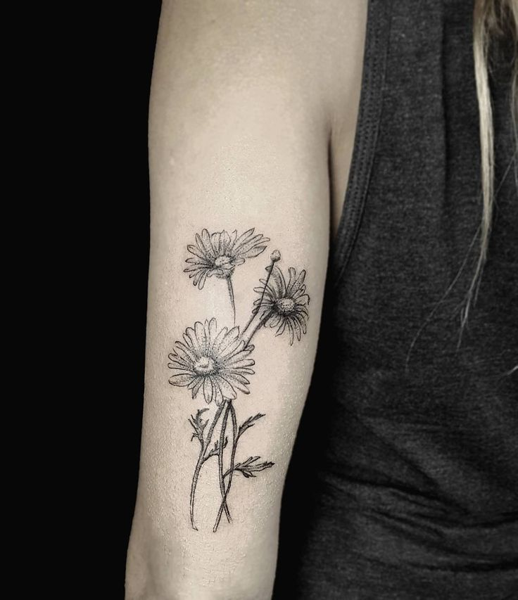 Cross With Daisy Tattoo: 9 Best Flower Tattoos Images On Pinterest