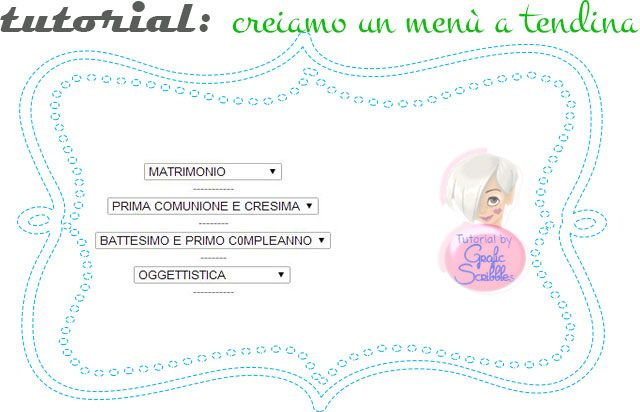 Come creare un semplice menù a tendina per il blog, tutorial http://graficscribbles.blogspot.it/2014/03/creare-menu-tendina-codice.html