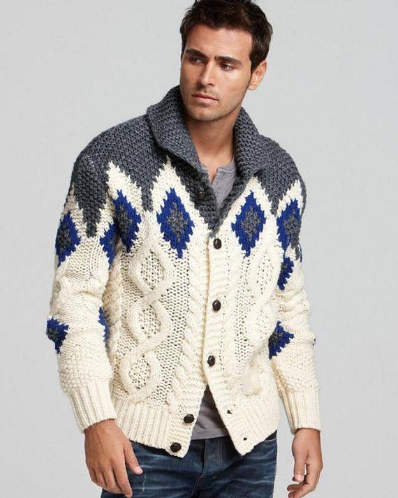 Men's hand knit buttoned cardigan 11A – KnitWearMasters