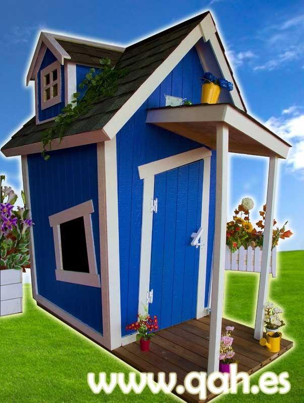 Casita de madera para ni os muy original para exterior - Venta de casitas infantiles ...