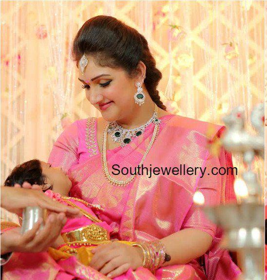 Sridevi Vijaykumar in Diamond Jewellery
