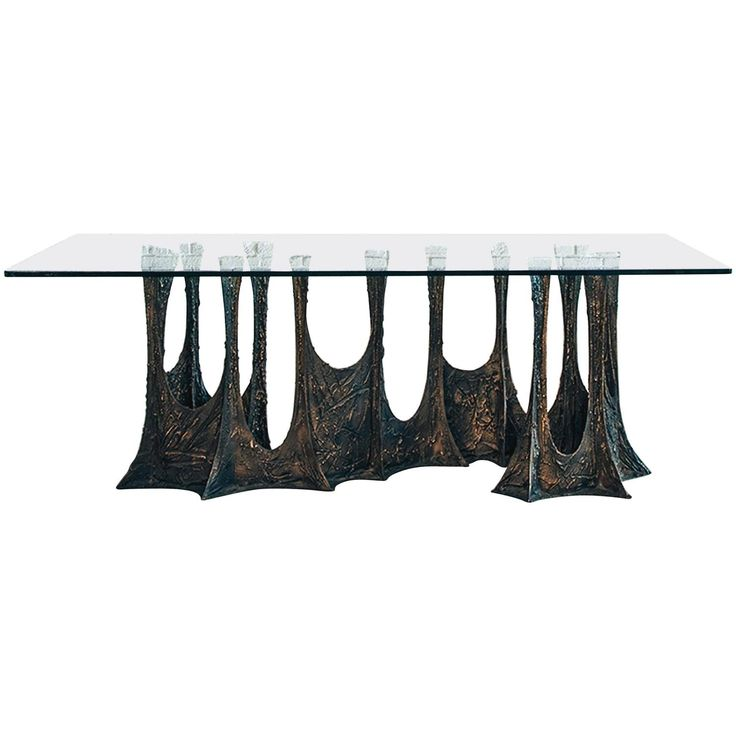 Paul Evans Signed 'PE69' Sculpted Metal Dining Table