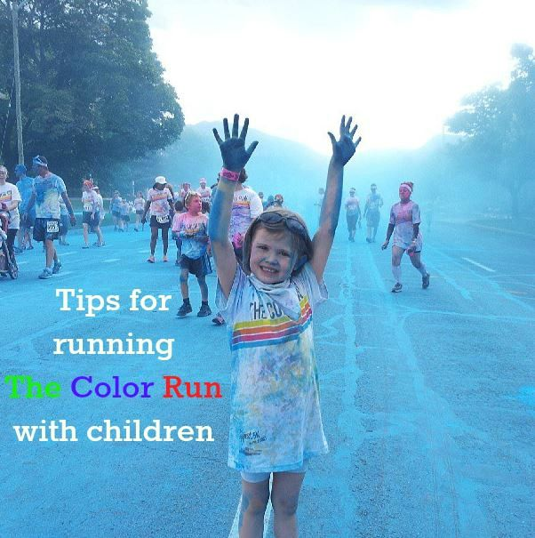 Tips for running The Color Run with children + coupon code good anywhere in the US!