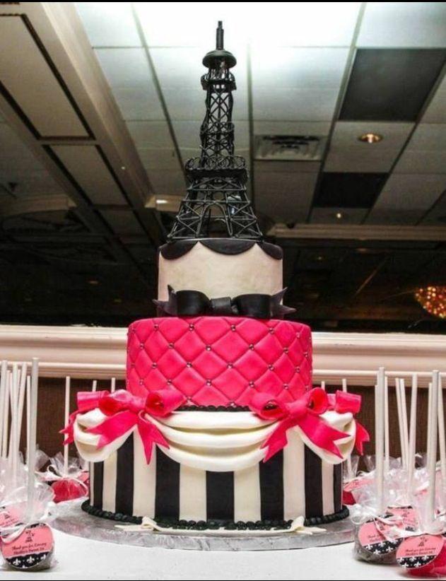 Paris theme cake.