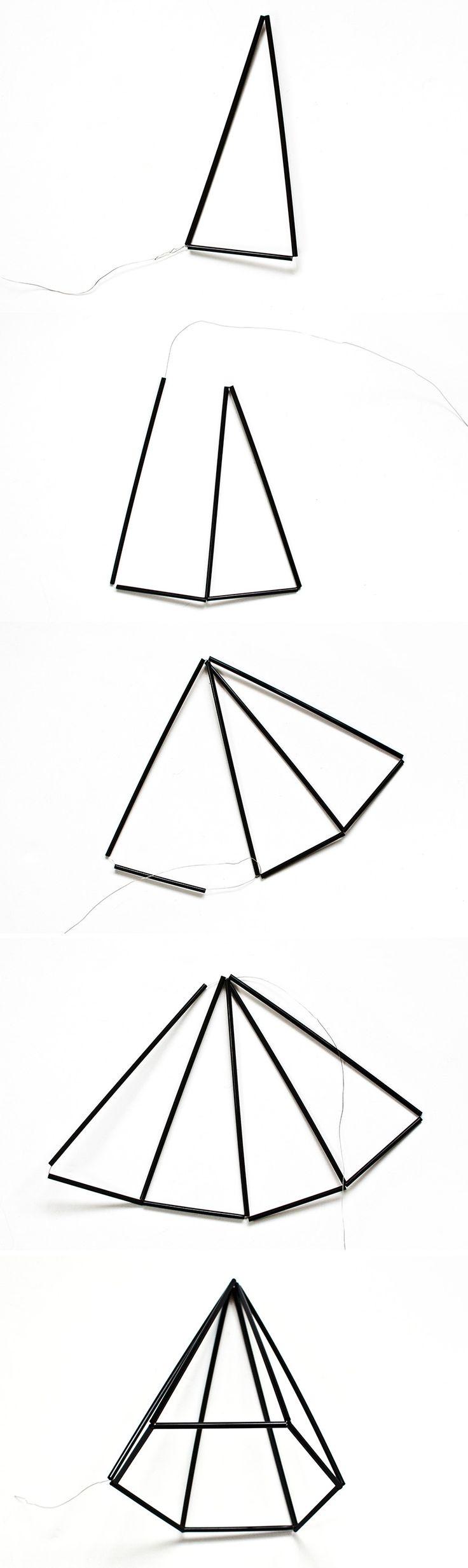 DIY Himmeli Geometric Gem Decor | Transient Expression