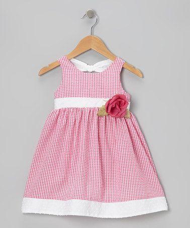 Loving this Fuchsia Gingham Seersucker Dress - Infant & Toddler on #zulily! #zulilyfinds