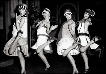 • This image displays how women began to dress in the 1920s. Commonly called 'flappers', this new appearance for women was a strong symbol of the decade. The idea of the flapper not only changed women's appearances but also influenced how they acted and behaved.