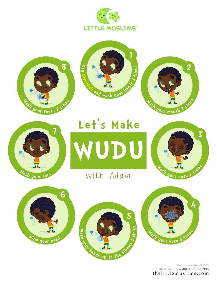 Let's Learn Wudu Poster: Adam-Green