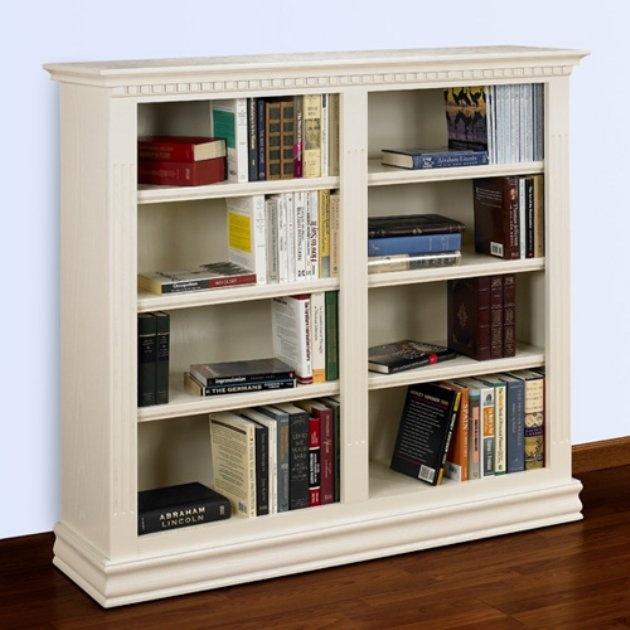 Louis Philippe Open Bookcase: Hampton Double Bookcase - 48W X 84H In.