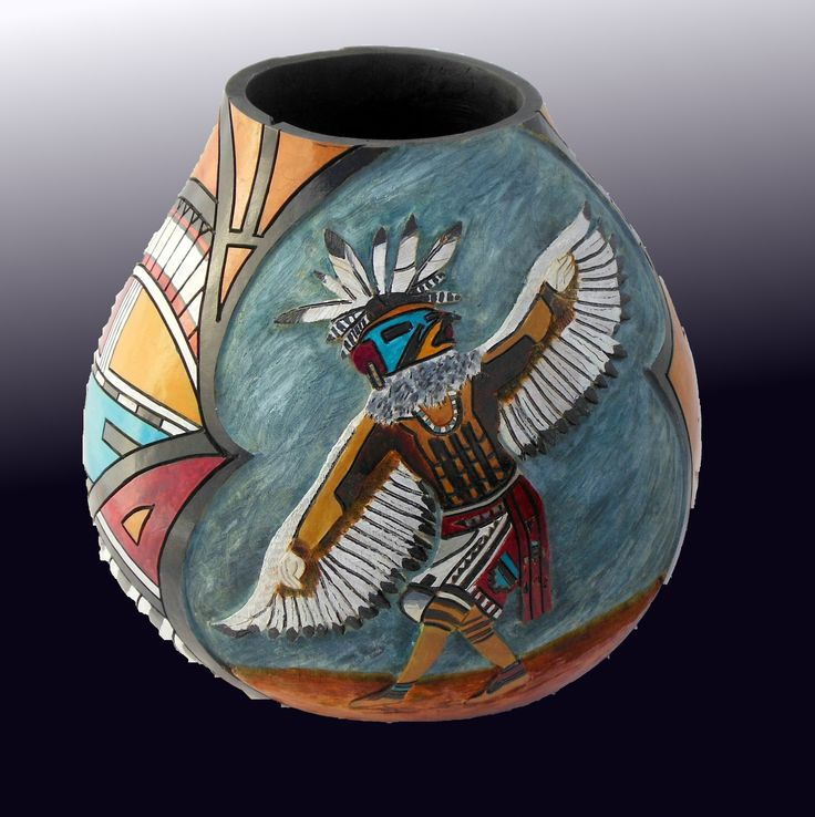 Eagle kachina by gourdacopia crafts gourds pinterest