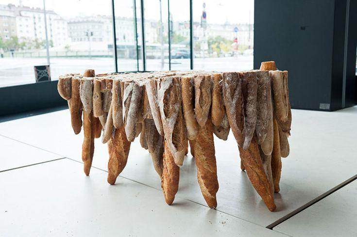 Table en baguettes - http://www.2tout2rien.fr/table-en-baguettes/