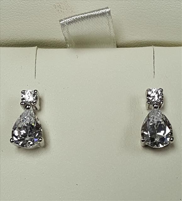 Silver and CZ Earrings