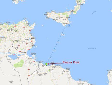 """""""In de Middellandse Zee zijn dinsdag 1.800 migranten gered uit 16 boten in de 'buurt' van de Libische kust."""