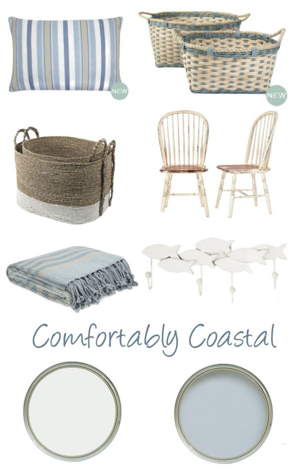 Comfortably Coastal The combination of seaspray blue and pale natural tones in the new Laura Ashley Spring/Summer 2013 collection spells out relaxed, coastal style. This timeless look is ideal for homes both located by the sea or inland.