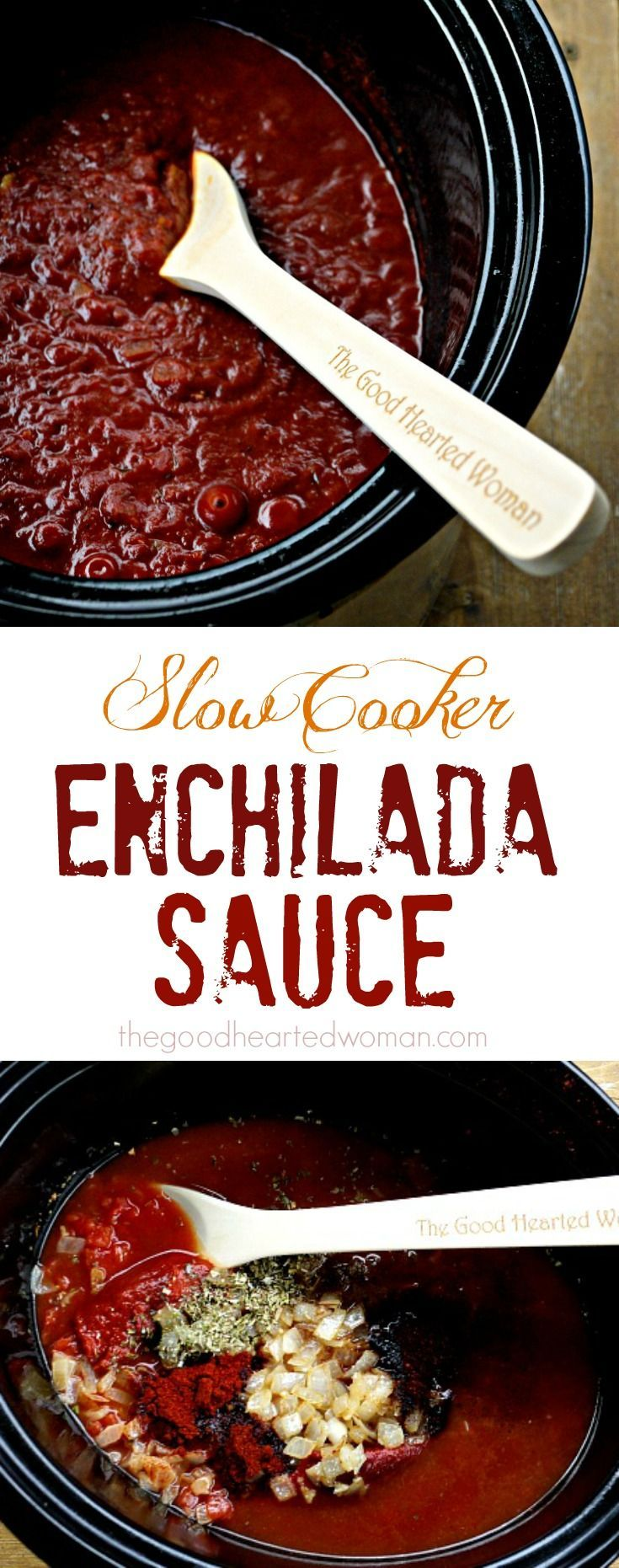 Slow Cooker Enchilada Sauce | The Good Hearted Woman