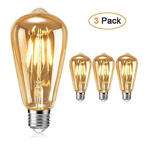 Ampoule Led Edison Otutun Ampoule Led Filament Vintage E27 4w 2700k