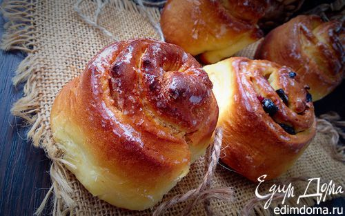 "Булочки ""Челси"" (Chelsea buns)   Кулинарные рецепты от «Едим дома!»"