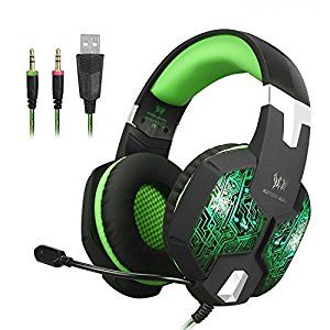 PC Headphones Meiertop G1000 Gaming Headsets with Noise Isolation Microphone, Surround Sound Hifi Gamer Earphones Over-Ear, Comfortable Headband for Apple iPhone / Computer/Laptop / Smartphone/Tablets: Cell Phones