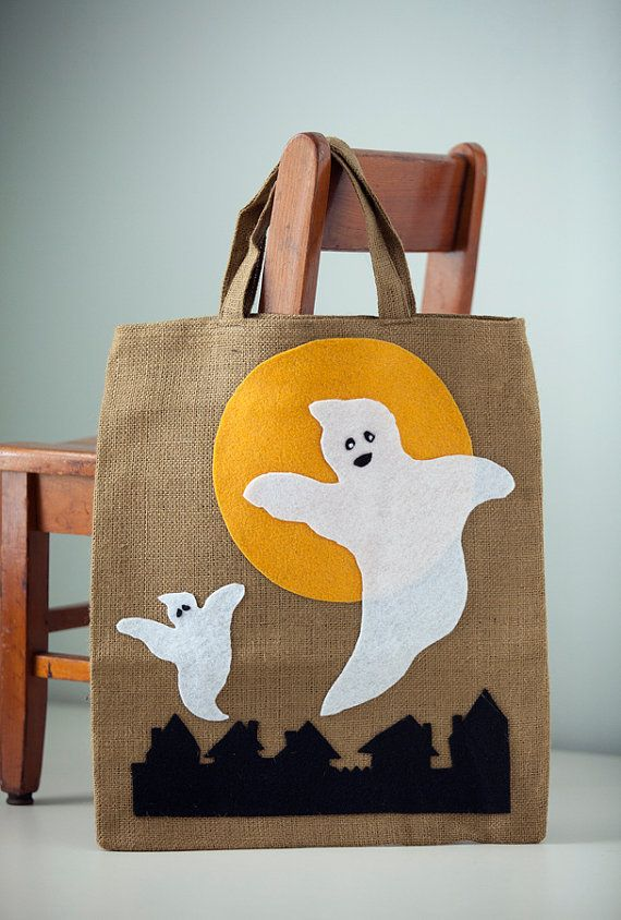 quick and simple kids halloween bags craft - Halloween Handbag