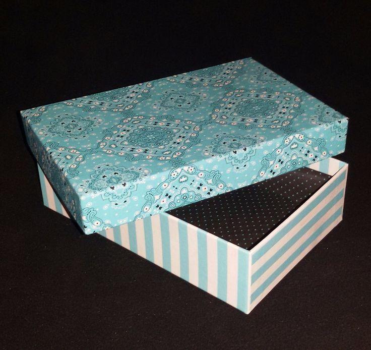 Caja Rectangular Carton Rigido Diseño Celeste - Para Regalo - $ 75,00 en MercadoLibre