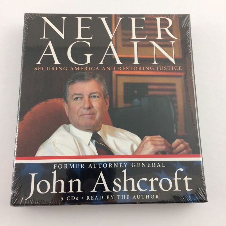 John #Ashcroft 'Never Again' book on CDs. Read by the former Attorney General himself. #GOP #Republican
