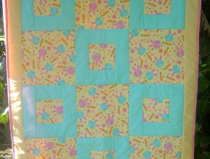 Funky cot quilt