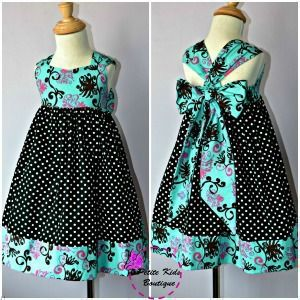 """DIY """"Ella Dress"""" 12 months - 8 Years - Pattern & Instructions - this is adorable and can be done in any fabrics"""