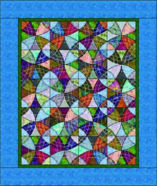 Winding Ways Quilt Pattern MGD-102 (advanced beginner, throw, lap)