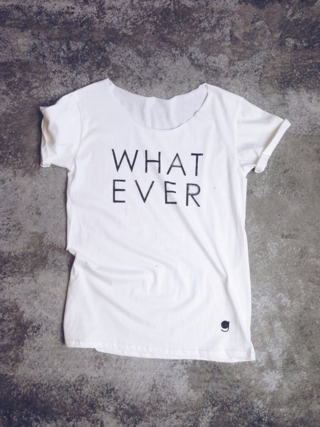 "Statement Shirt mit Typo / statement shirt with typo ""whatever"", urban hipster style by gegoART via DaWanda.com"