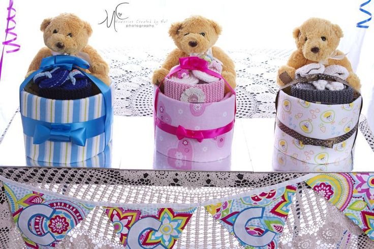 Girl, boy and Unisex Nappy Cakes with Lil Ivy Creations $50