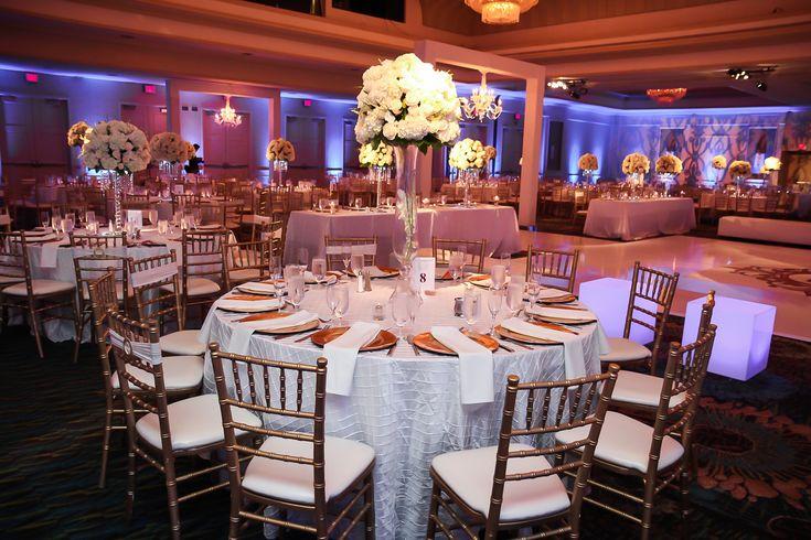 White And Gold Wedding Reception Decor