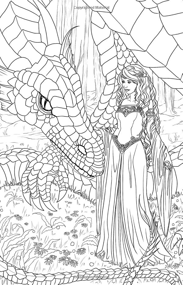 805 best Fantasy Coloring Pages for Adults images on Pinterest ...
