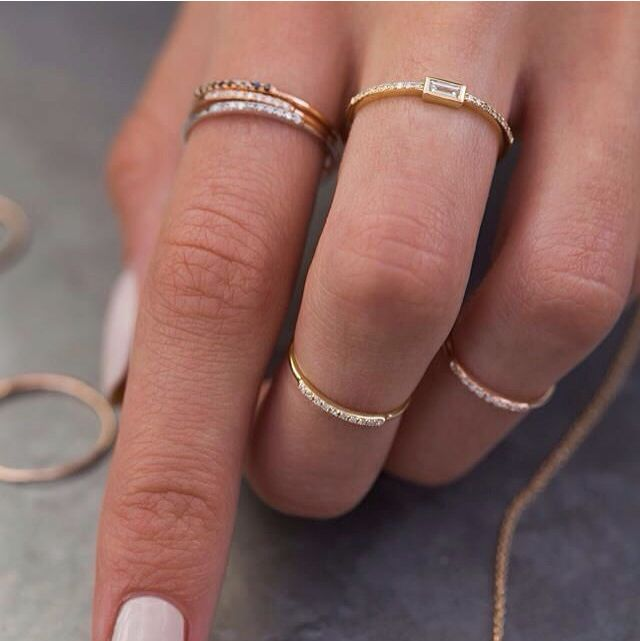 Sweet little stacks #lunaskyejewelry Www.lskyejewelry.com