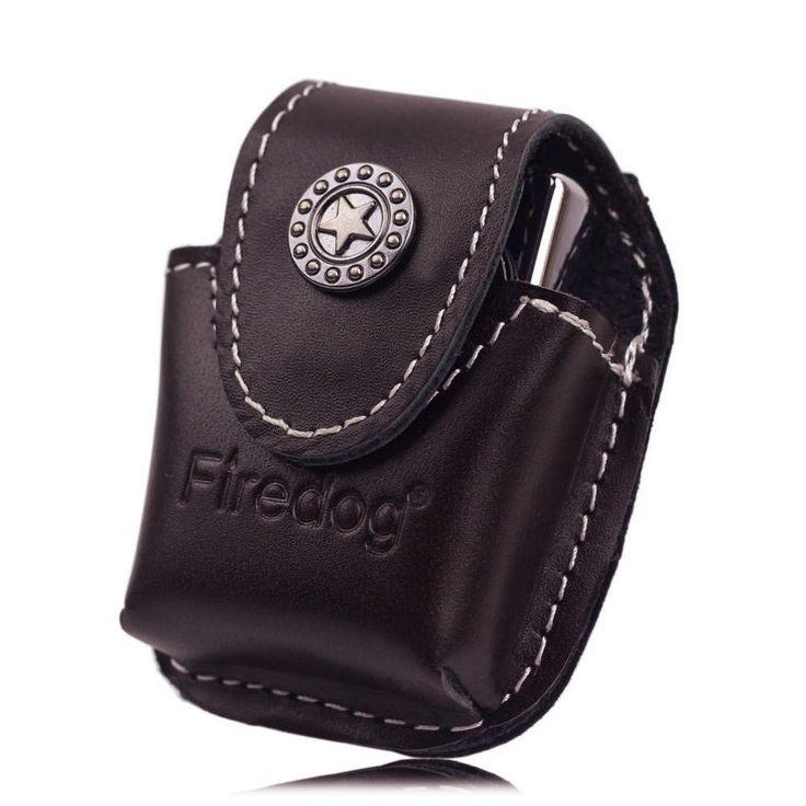 Firedog Fliptop Genuine Leather Lighter Pouch Holder Case with Metal Belt Clip for ZIPPO Kerosene Oil Lighter //Price: $15.98 & FREE Shipping //     #hashtag3