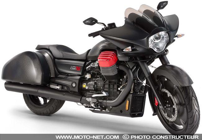 Nouveautés Moto Guzzi 2016 : V7 Stornello Scrambler et concept Bagger