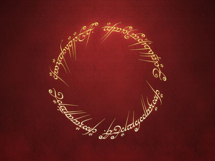 Lord Of The Rings Inscription Desktop Wallpaper